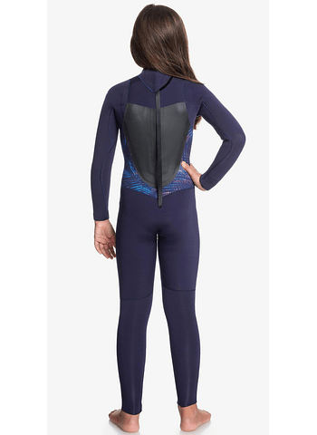 Fato Roxy 4/3mm Syncro Series Back Zip GBS Girl Wetsuit