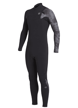 Fato Neoprene Billabong 4/3 Furnace Carbon Comp GBS - Chest Zip