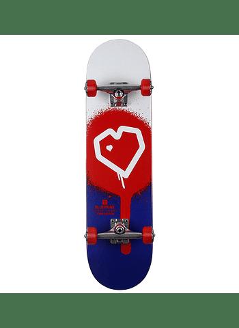 Skate Blueprint Spray Heart 8.0