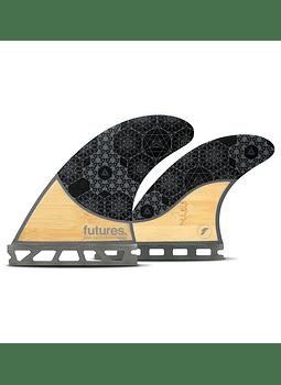 Quilhas Future Fins Rasta Quad Honeycomb