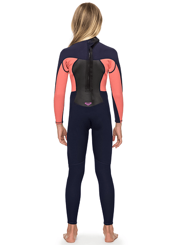 Fato Roxy 4/3 Prologue Back Zip Girls Wetsuit