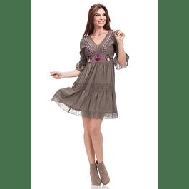 Vestido Tina Kaki