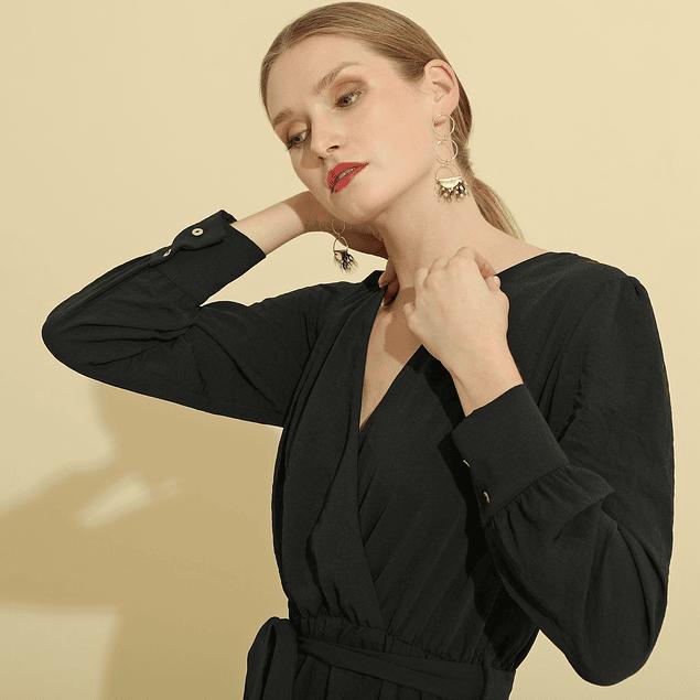 Vestido Thyssen  Largo Negro