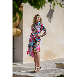 Vestido Camisero Tropical