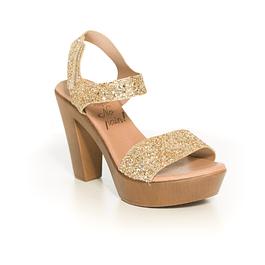 Sandalia Glitter Dorada