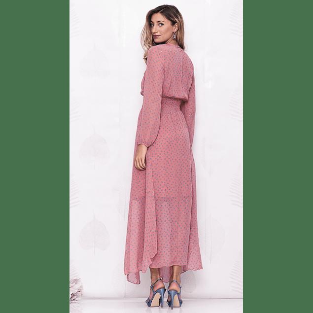 Vestido Largo Afro 1 Rosa