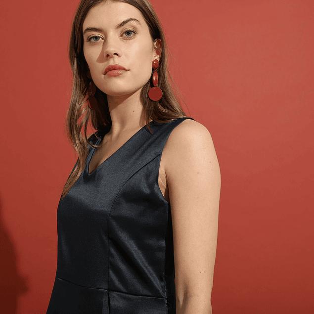 Vestido Marcela Azul Marino