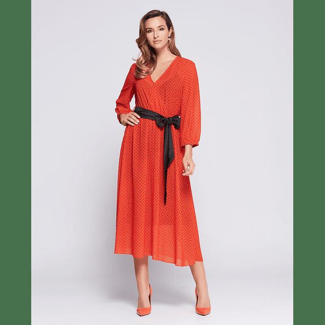 Vestido Maxim Rojo Largo