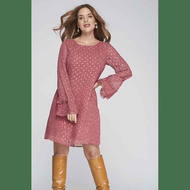 Vestido Pamela Rosas Corto
