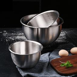 Set 3 Bowls con Medida