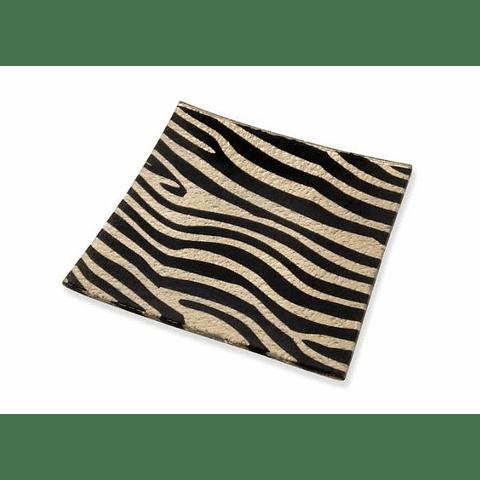 Plato Cuadrado Zebra