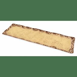 Bandeja Rústica Crema 13x45cm