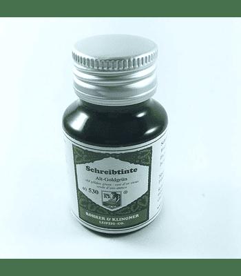 R&K - 50 ml Schreibtinte - Alt-Goldgrün