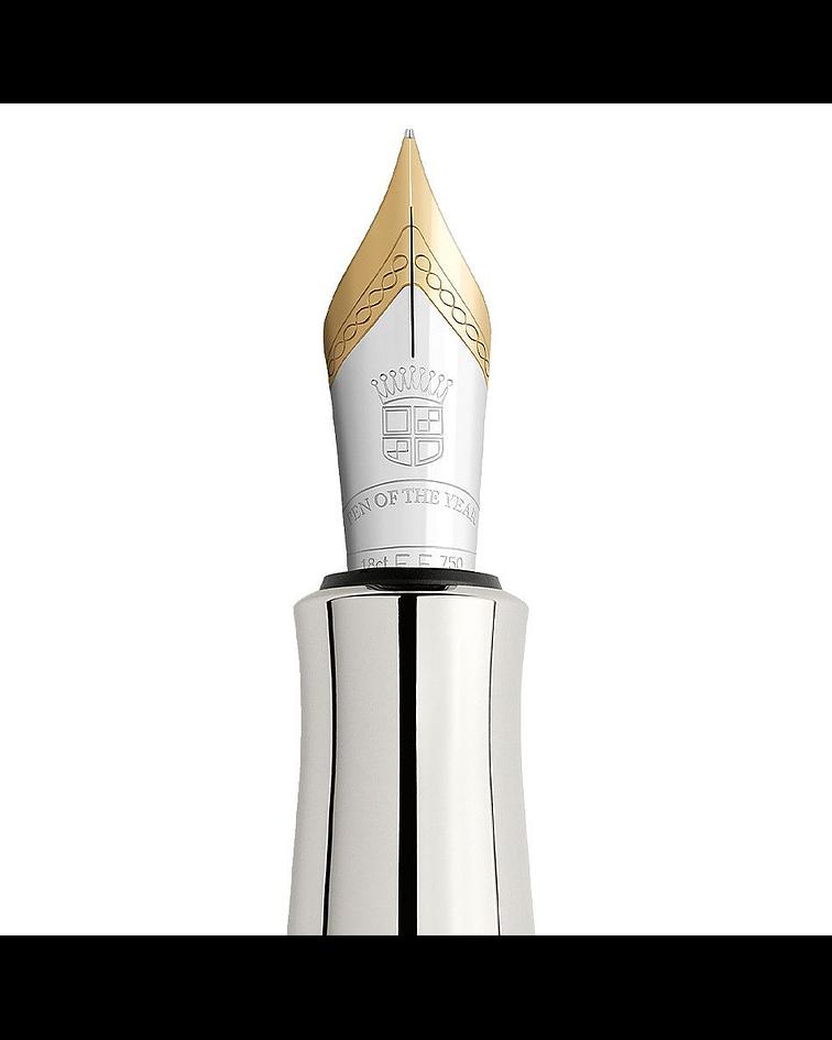 Graf von Faber-Castell - Lápiz del año 2016 platino - Onyx and flamed maple