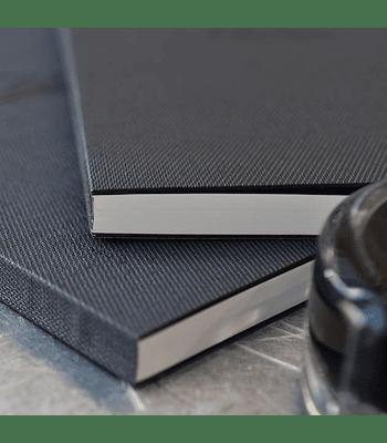 Tomoe River - Cuaderno tapa dura, 184 h (52 g/m2); A5; Cuadro 5 mm - blanca