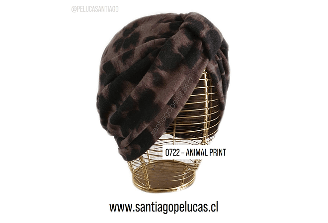 SB 0722 TURBANTE LANILLA FINA ANIMAL PRINT