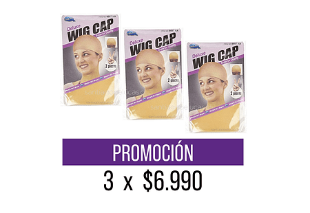 PROMOCIÓN 3 x $6.990 WIG CAP PANTY BEIGE