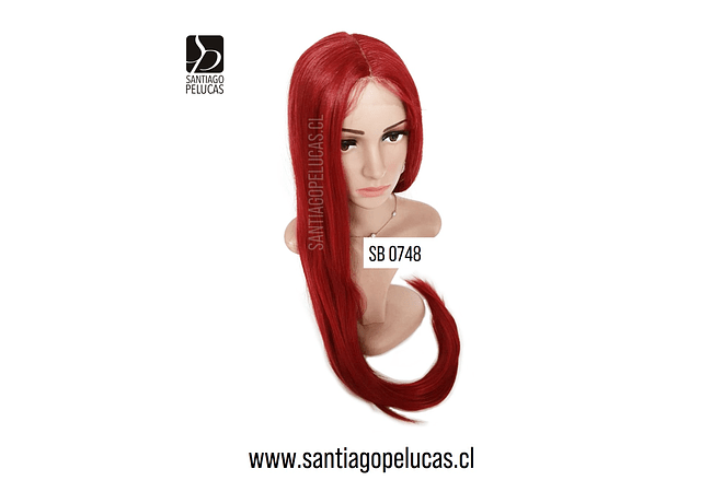SB 0748 LACE FRONT EXTRA LARGA 1 MT LISA ROJO