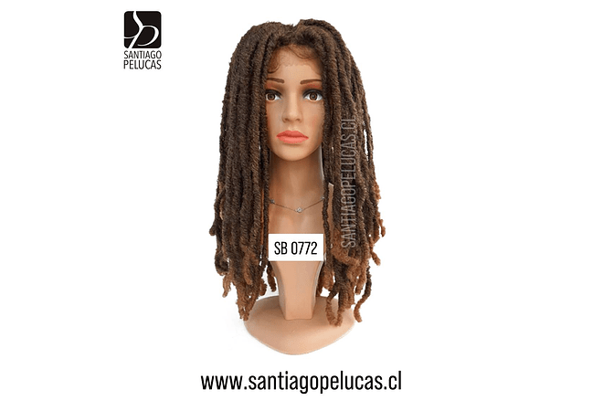 SB 0772 LACE FRONT DREADLOCKS CASTAÑO