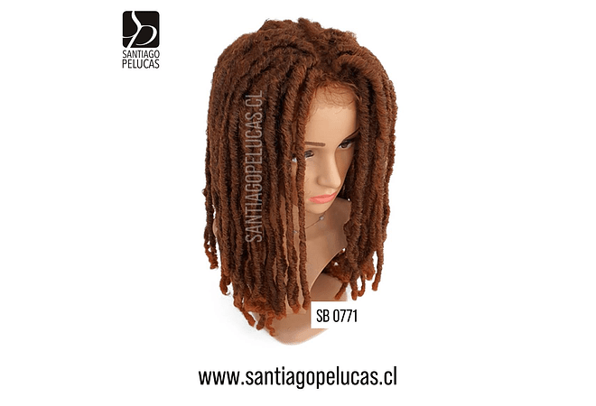 SB 0771 LACE FRONT DREADLOCKS CHOCOLATE COBRIZO