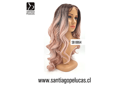 SB 0864 LACE FRONTAL LARGA ONDULADA BALAYAGE GOLD ROSE