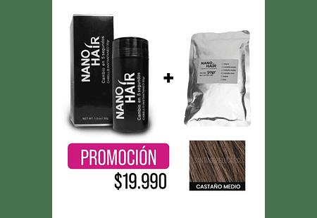 PROMO NANO HAIR + RECARGA - CASTAÑO MEDIO