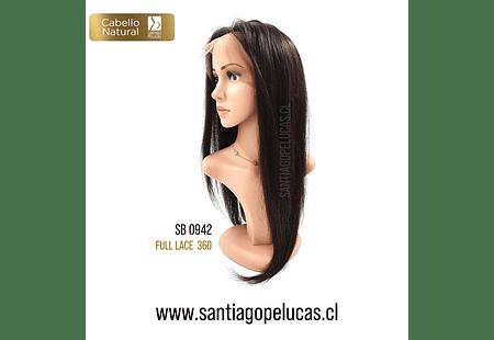 SB 0942 NATURAL FULL LACE 360 EXTRA LARGA CASTAÑO OSCURO