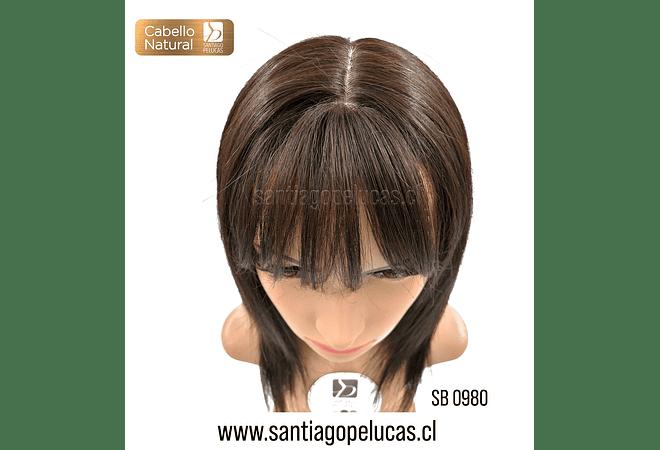 SB 0980 NATURAL ANTLIA MELENA LARGA DESFLECADA CASTAÑO OSCURO
