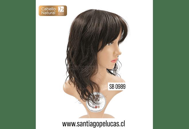 SB 0989 NATURAL MELENA SEMICRESPA CASTAÑO OSCURO
