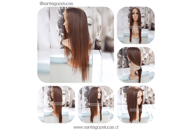 LACE FRONT LARGA LISA BALAYAGE CHOCOLATE MATIZADO