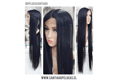 LACE FRONT EXTRA LARGA 1 MT LISA NEGRO
