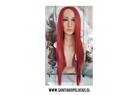 SB 0646 LACE FRONT LARGA LISA ROJO