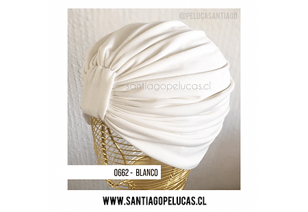 SB 0662 TURBANTE LYCRA BLANCO