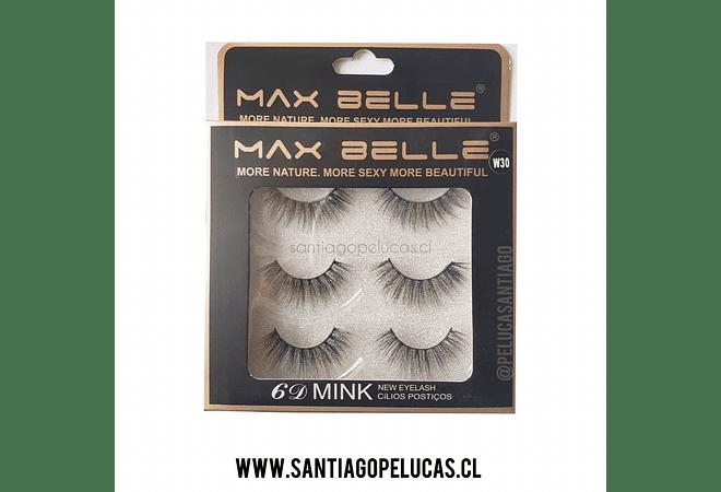 Pestañas Postizas Santiagopelucas Max Belle 6D