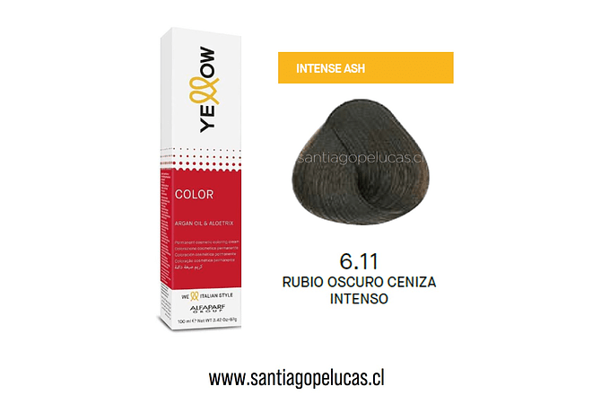 YELLOW 6.11 RUBIO OSCURO CENIZA INTENSO