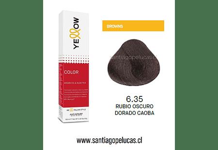 YELLOW 6.35 RUBIO OSCURO DORADO CAOBA