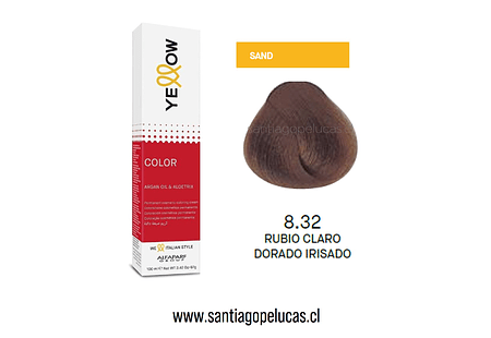 YELLOW 8.32 RUBIO CLARO DORADO IRISADO
