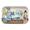 Bandeja Metal Rick y Morty & Los Simpson 29x19cm