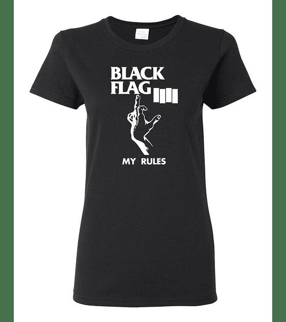 Polera Mujer Black Flag · My Rules