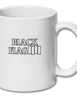 Tazón blanco black flag clásico