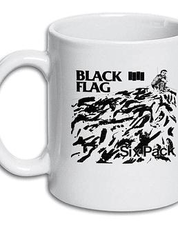Tazón blanco black flag six pack