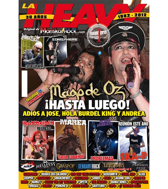 Revista La Heavy - 30 Años (1982-2012) Nº341