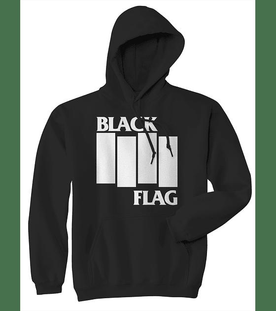 Poleron canguro clasico black flag