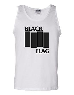 Polera Musculosa Black Flag · Logo