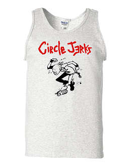 Polera Musculosa Circle Jerks · Logo