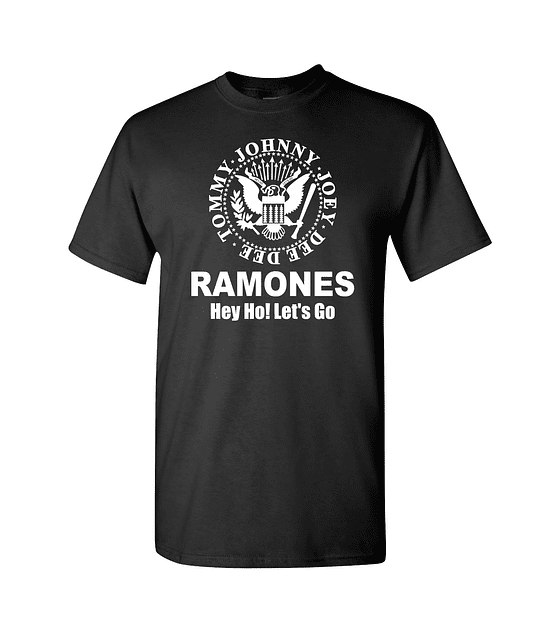 Polera The Ramones · Hey Go! Let's Go
