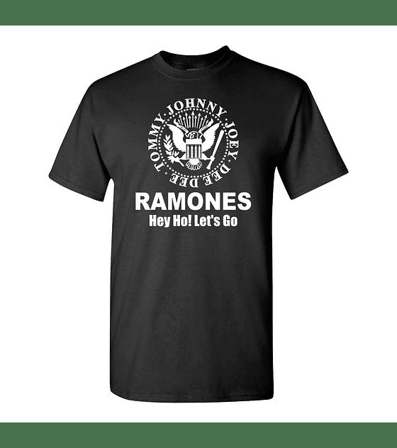 Polera M/C The Ramones · Hey Go! Let's Go