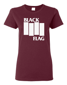 Polera Mujer Black Flag