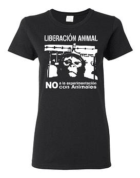 Polera Mujer Liberación Animal, No A La Experimentación...