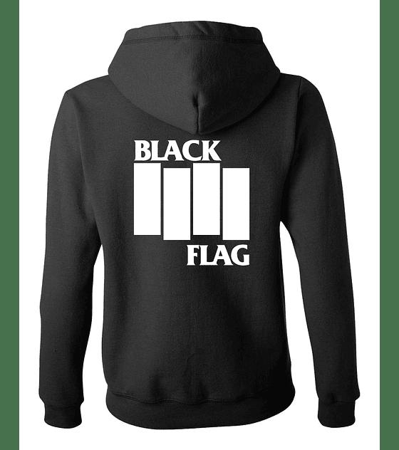 Polerón Con Cierre Mujer · Clásico Black Flag